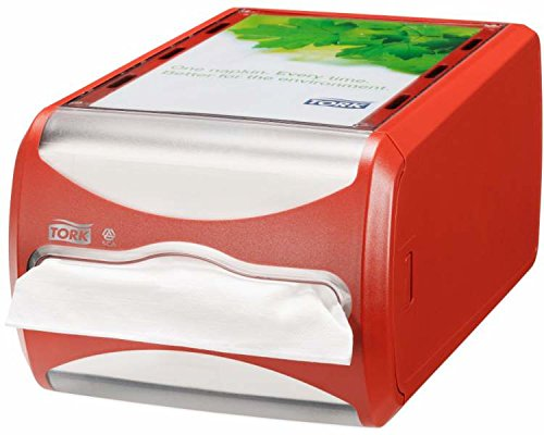 Tork 272512 Xpressnap Thekenspender für N4 Spenderservietten / Serviettenspender in Rot