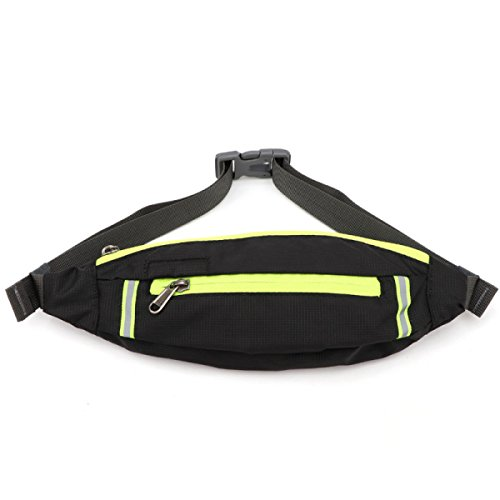 LYFLYF Fermé Invisible Fitness Extérieur Multifonctionnel Sport Running Masculin Imperméable à l'eau Waist Packs Sac,Black