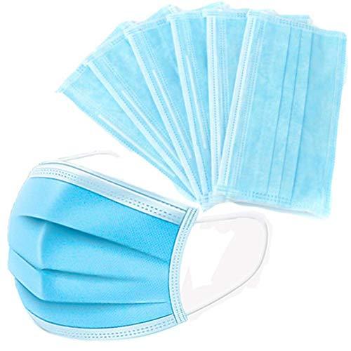 3-lagige Gesichtsmasken für Erwachsene, Einweg-Mundschutz, atmungsaktive Gesichtsbedeckungen, Motorrad, Gesichtsmasken, atmungsaktiv, kein Beschlagen, für die ganze Familie - 3