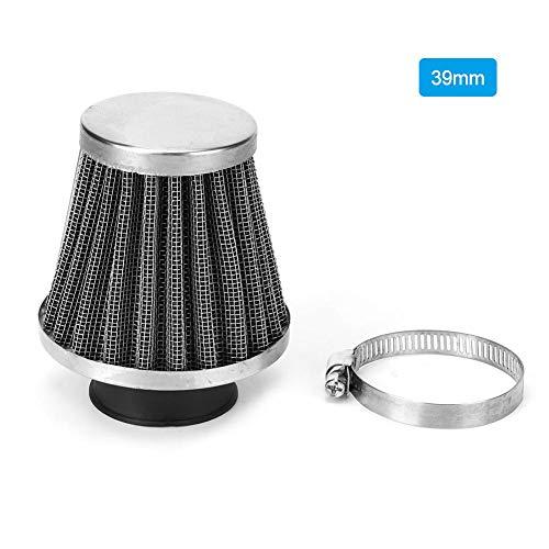 Filtro de aire universal con abrazadera, filtro de motor de repuesto cónico redondo(39mm)