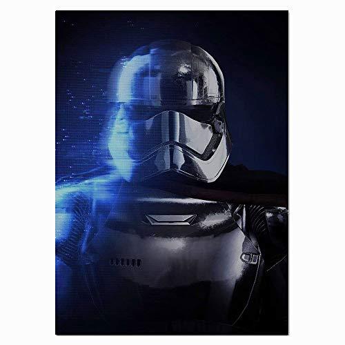Xicplc Star Wars Movies - Lienzo decorativo para pared, diseño abstracto de Star Wars The Last Jedi, pintado a mano, 61 x 91 cm, sin marco, decoración del hogar, sin marco