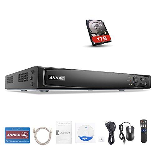 ANNKE POE NVR 1080P HD 4 Canali 6 Megapixel Videosorveglianza Videoregistratore 6MP Kit Sorveglianza POE