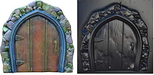 SvitMolds Mold Garden Fabulous Door Casting Concrete Decor Fairy Door Cement D48
