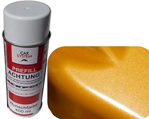 Spraydose 400ml 1K Autolack Brillant Orange Metallic Glanz Kein Klarlack Tuning