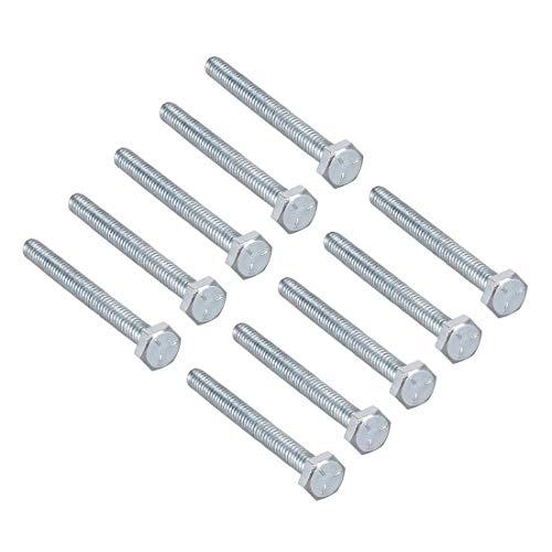 Bulloni a vite a testa esagonale in acciaio al carbonio 1/4 pollici, 20 x 2 – 1/2 pollici, fissaggio grado 5 UNC 10 pz.