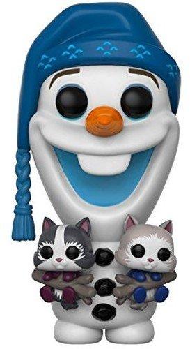 Funko-21573 Disney Personaggio Frozen: Olaf W/Kittens, Multicolore, 9 cm 21573, 3 anni e più
