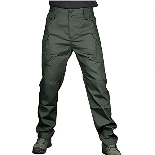 JIASHIQI Pantalones de Trabajo de Combate de Carga para Hombre, Pantalones de Trabajo, Ropa de Trabajo Duradera con Cierre de botón para Senderismo al Aire Libre Trekking Army Tactical