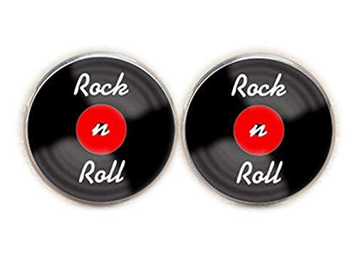 Chen Jian Xin Manschettenknöpfe Rock and Roll Muisc Manschettenknöpfe Einzigartige Manschettenknöpfe Rock and Roll Geschenk