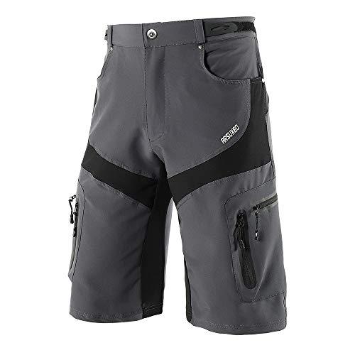 Lixada Pantaloncini da Ciclismo da Uomo Quick Drying Sport Allaria Aperta Traspirante Ciclismo da Equitazione con 6 Tasche