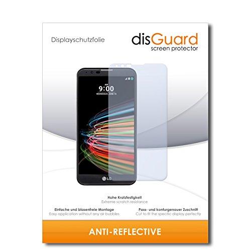 disGuard® Bildschirmschutzfolie [Anti-Reflex] kompatibel mit LG X mach [2 Stück] Entspiegelnd, Matt, Antireflektierend, Extrem Kratzfest, Anti-Fingerabdruck - Panzerglas Folie, Schutzfolie