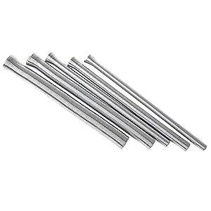 Juego de 5 muelles de alambre de acero para doblar tubos, juego de muelles de flexión de tubos, muelle de tubería de fontanería, 1/4 '', 5/16 '', 3/8 '', 1/2 '', 5/8 '', plateado