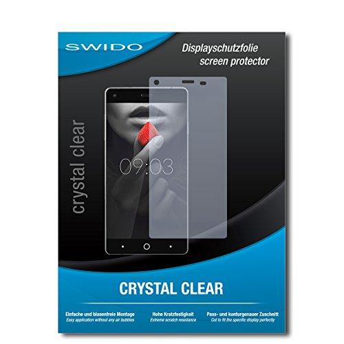 SWIDO Bildschirmschutzfolie für Kiano Elegance 5.0 [3 Stück] Kristall-Klar, Extrem Kratzfest, Schutz vor Öl, Staub & Kratzer/Glasfolie, Bildschirmschutz, Schutzfolie, Panzerfolie