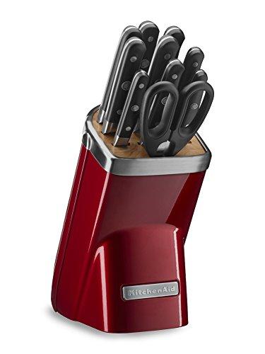 KitchenAid KKFMA11CA Professional Series 11 Piece Cutlery Set, Candy Apple Red