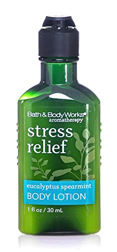 Bath & Body Works Aromatherapy Stress Relief Eucalyptus Spearmint Body Lotion 1 oz travel sized bottles - lot of 10