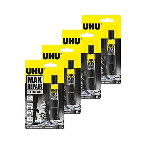 Uhu 45820 Max Repair - Extrem-Kleber, 20 g Tube (4er Pack)