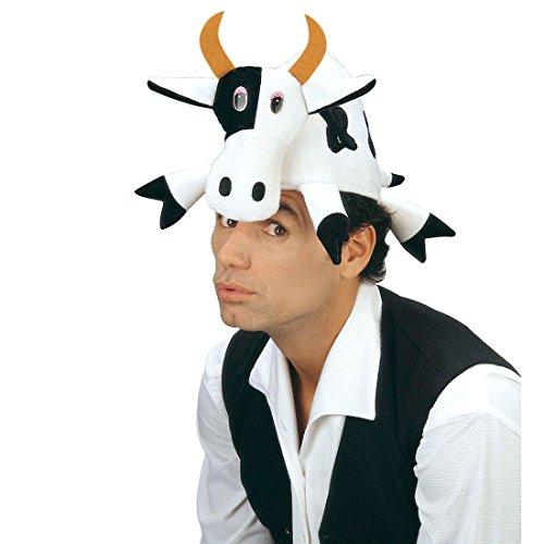 NET TOYS Kuh Mütze Hut Tierhut Tiermütze Fasching Karneval Kuhmütze lustige Kopfbedeckung Faschingshut