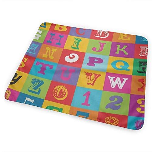 licht Saber DUN Kleurrijk Alfabet ABC en cijfers Draagbaar Verander Pad, Opvouwbare Pad met wandelwagen Band & Pocket voor Luiers & Wipes
