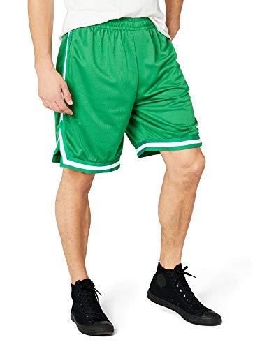 Urban Classics Stripes Mesh Shorts Pantaloncini, Multicolore (cgrcgrwht 80), XL Uomo