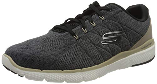 Skechers FLEX ADVANTAGE 3.0- STALLY-52957, Herren Low-Top, Schwarz (Black Blk), 45 EU