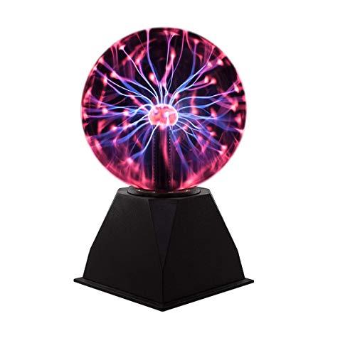 Plasmakugel Magische Blitze Plasmaball Lampe Mini Leuchtkugel Leuchten für Kinder Dekorationen Stütze Schlafzimmer Haus und Geschenke Stimmungslichter Nachtlichter Plasma Kugel (20x28 cm)