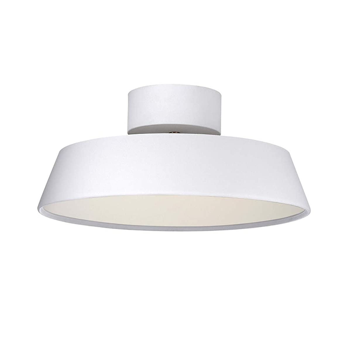Macarons Ceiling Light Fixture Semi-Flush Mount, LED 12W Adjustable Ceiling lamp Bedroom Restaurant Living Room Aisle 30x30x13cm-White Trichromatic dimming