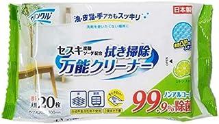 クリンクル セスキ炭酸ソーダ配合 拭き掃除万能クリーナー 大判 20枚【3個セット】