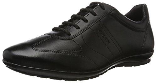 Geox UOMO Symbol B, Zapatos de Cordones Oxford para Hombre, Negro, 47 EU