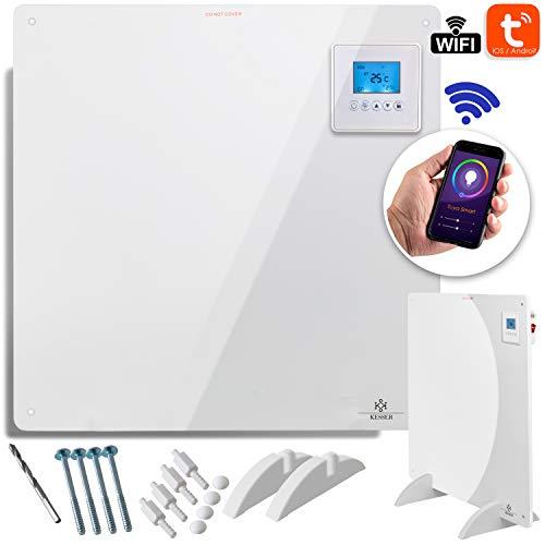 KESSER® Infrarotheizung 425 Watt mit APP WiFi Funktionen ✓ LCD-Display Digital ✓ Timer ✓ Wandheizung ✓ Infrarot ✓ Heizung ✓ Heizkörper | Heizpaneel | Inkl.Standfüßen NEU |