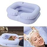 yestter Aufblasbares Waschbecken, Pflege-Shampoo aus PVC, für zu Hause, für Schwangere, medizinisches Shampoo, Bett Patienta, Pflegebett, Krankenschwester, Weiß, aufblasbar -