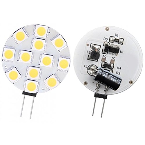 Lampada LED G4, 10-30 V 2W4, diametro 30 mm, colore: bianco freddo