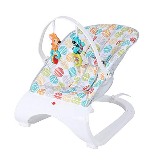 Qiilu Infant Rocker Baby Electric Rocking Chair Cradle Pasgeboren Comfort Vibration-schommelstoel