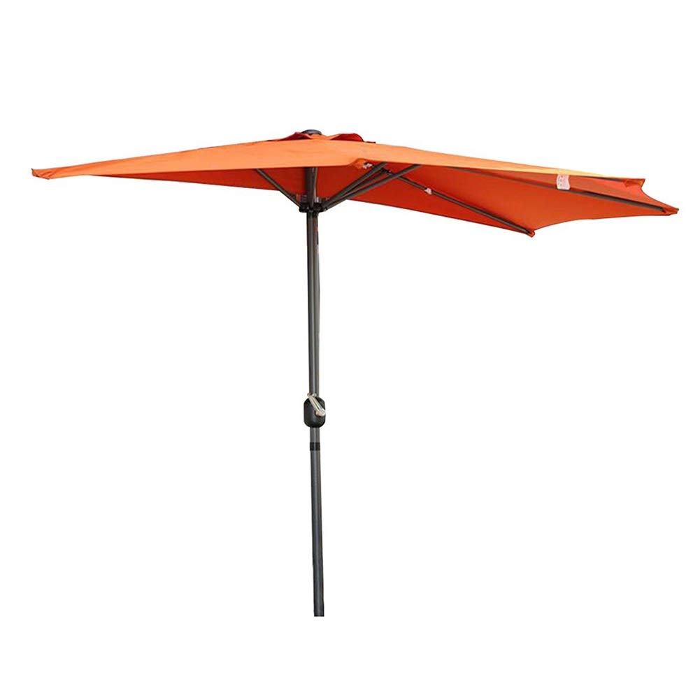 Sombrillas 2,7 M (9 Pies) Jardín Balcón Parasol Semicircular Semicircular, Parasol Circular Circular para Patio Exterior Terraza Pequeña (Color : Orange): Amazon.es: Hogar