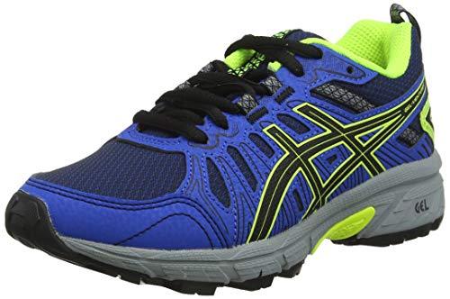 Asics Gel-Venture 7, Sneaker Unisex-Child, Black/Safety Yellow, 39 EU