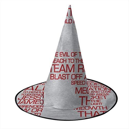 NUJSHF Team Rocket Motto Monster of The Pocket Sombrero de Bruja Unisex Disfraz para Vacaciones, Halloween, Navidad, carnavales