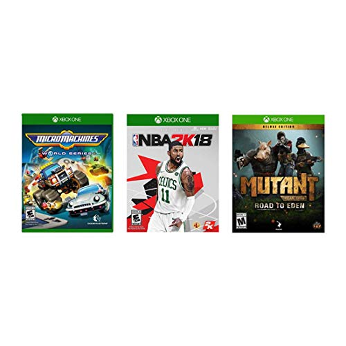 Microsoft Xbox One 3 Game Bundle - Mutant: Road to Eden Deluxe Edition, NBA 2K18, Micro Machines World Series