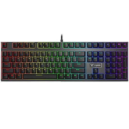 Mechanical keyboard wired keyboard gaming keyboard computer keyboard black-V700 (108 key tea shaft)