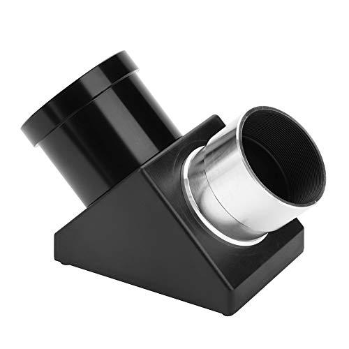 Astronomie Teleskop Prisma Zenitspiegel Okular Adapter,90 ° Ansicht,Metallkörper positiver Plane Spiegel Diagonal Adapter für 1,25 Zoll Refraktor/katadioptrisches Teleskop Okular