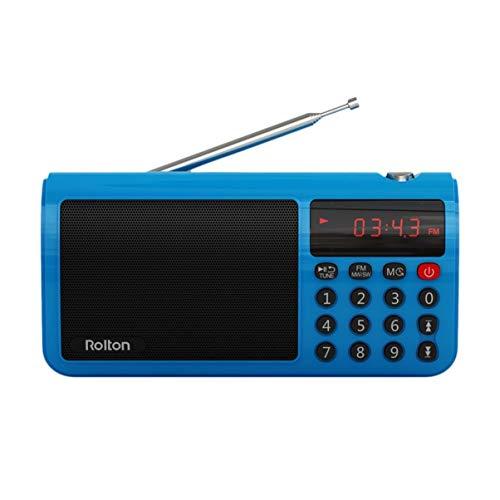 Monllack Rolton T50 Tragbarer Weltempfänger mit hoher Empfindlichkeit UKW/MW/SW Stereo-Radio-Lautsprecher Mp3 Music Player Speicherkarte für PC-Computer