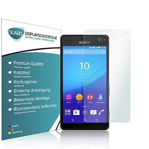 Slabo 2 x Bildschirmschutzfolie kompatibel mit Sony Xperia C4 Bildschirmschutz Schutzfolie Folie Crystal Clear unsichtbar Made IN Germany