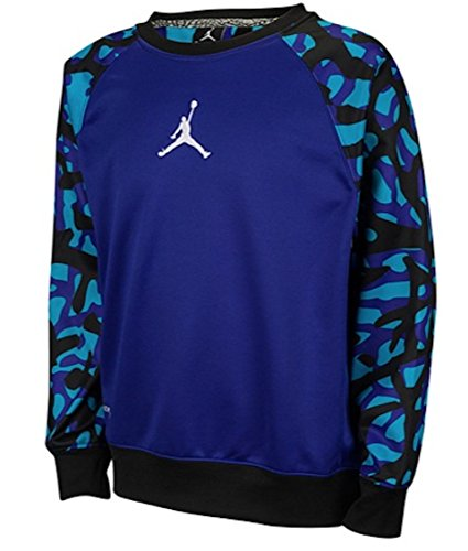 Jordan Air Jumpman Camo Print Therma-Fit Crew Sweatshirt Pullover Size Medium M (10-12)