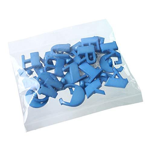 NBK アルファベットボタン A~Z 各1個 青セット 直径18mm 青 CG-BUSET