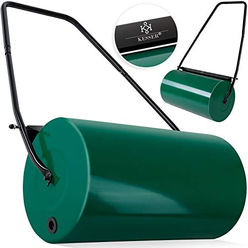 Rasenroller Rasenwalze Handwalze 57cm Gartenwalze Rasenlüfter ergonomische Blau