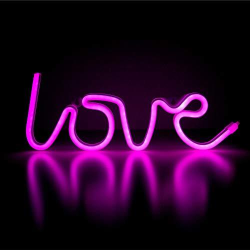 TIEMORE Led Liebe, Liebe Licht,Neon Liebe Zeichen Licht,Romantische Neon Art Dekorative Lichter,Usb Batteriebetrieben Wasserdichte Liebe Zeichen Neon Licht Für Die Wand Für Hochzeit Valentinstag