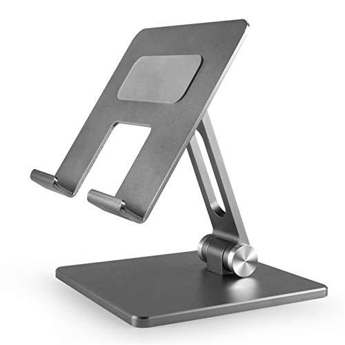 MELLRO Desktop Laptop Holder Foldable Aluminum Alloy Tablet Stand Suitable For Most Tablets Universal Computer (Color : Silver, Size : 130x133x134cm)