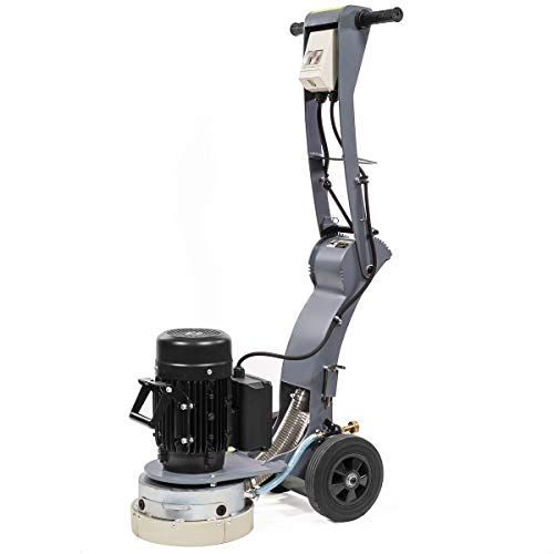 XtremepowerUS 10-inch Walk-Behind Electric Concrete Floor Grinder 2.0HP Dust Extraction Angle Adjustable Handle Height
