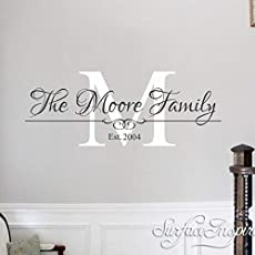 Name Wall Decal Personalized Removable Wall Decals Surface Inspired 1006