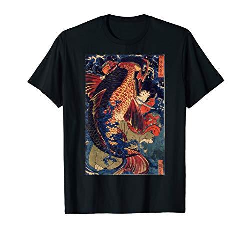 Fighting the Giant Carp Japanese Tshirt