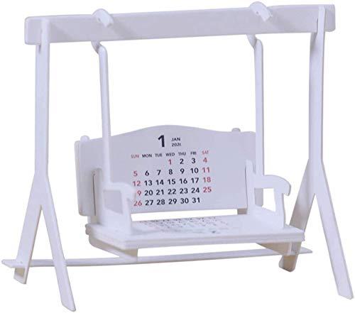 LAMTON Calendario de Escritorio 2021, Calendario de Escritorio mensual Creativo de Forma Columpio, Adecuado para Escritorio de Oficina/Sala de Estar/Sala de Estudio