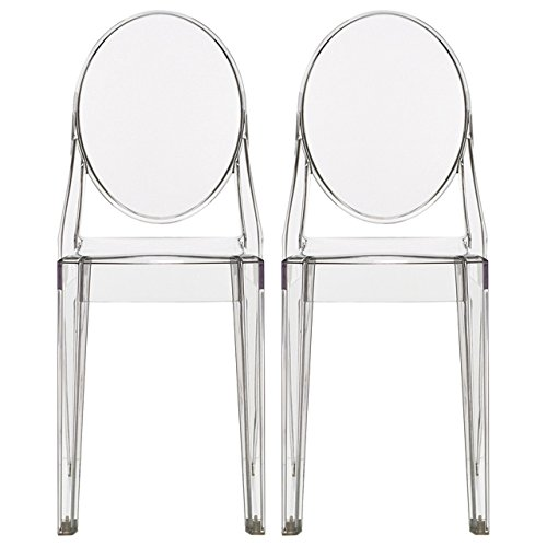Sales Victorian Ghost Chair Clear Side Chair Armless Set Of Nameseo2011