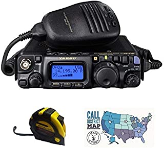 Bundle - 3 Items - Includes Yaesu FT-818 QRP 6W HF/VHF/UHF All Mode Mobile Transceiver with The New Radiowavz Antenna Tape (2m - 30m) and HAM Guides Quick Reference Card